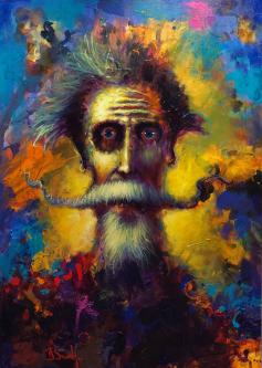 David Silvah |  Quixote Palette |  Acrylic on Canvas |  40 x 30 |  $2,200.  SOLD