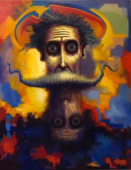 David Silvah |  Dual Quixote  |   Acrylic on Canvas |  63 x 54 |  $3,200.  SOLD