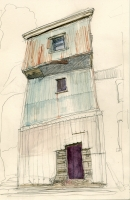 Ben T. Leech Mulberry Pencil and watercolor  6.5 x 10 inches $325