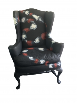 Eric Fausnacht  Snake Chair  Hand-painted  $900. SOLD