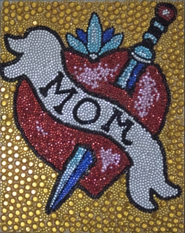 Eric Fausnacht  Mom  Acrylic-jewels on panel  20 x 16  $800.