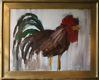 Eric  Fausnacht  Brown Rooster  Acrylic  22 x 28  $650.