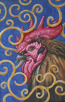 Eric Fausnacht  Golden Rooster  Acrylic   36 x 24  $1200.