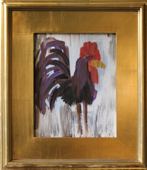 Eric Fausnacht  Purple Rooster  Acrylic   10 x 8  $150.