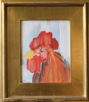 Eric Fausnacht  Red Hen Portrait   Acrylic  10 x 8  $150.