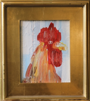 Eric Fausnacht  Red Rooster Portrait  Acrylic 10 x 8  $150.