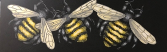 ERIC FAUSNACHT BUMBLEBEES   Acrylic   SOLD
