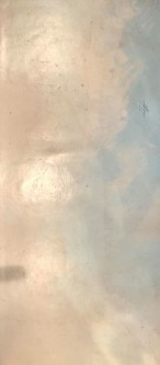 Sheila O'Keefe Braun |  #A4 |   Floor Cloth - Acrylic on Vinyl - painted with fingers and palette knives |  79 x 35 |  $750.