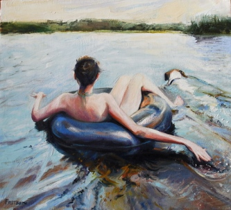 Gay Freeborn |  Afternoon Repose |  oil on canvas |  14.5 x 16 |  $850.