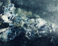 Georganna Lenssen |   After the Feast,  2021 |   Oil in canvas |   40 x 60  |   $6,500.