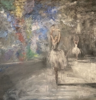 Gregory Prestegord  |  Ozy Dancers IV - Closed Series of 7 |  Oil on canvas |  48 x 48 |  $13,000. SOLD