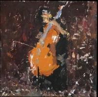 Gregory Prestegord |  Bach III |  Oil on panel |  6 x 6 |  $600.