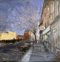 Gregory Prestegord |   View Down Gallery Row |   Oil on panel  48 x 48  $11,500.  | SOLD