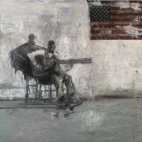 Gregory Prestegord  |  Mojo |  Oil on canvas |  30 x 30  |  $6,000.