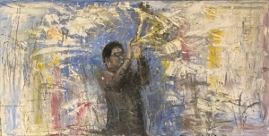 Gregory Prestegord  |  Dizzy |  Oil on canvas |  24 x 48  |  $8,000.