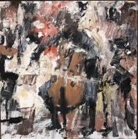 Gregory Prestegord |  Mini Cello |  Oil on panel |  6 x 6 |  $600.