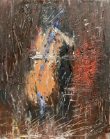 Gregory Prestegord  |  Abstract Bach |  Oil on panel |  6x8 |  $600.