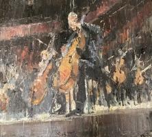 Gregory Prestegord |  Bach |  Oil on canvas |  16x20 |  $2,400.