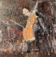 Gregory Prestegord |  Cellist |  Oil on panel |  10x10 |  $1,200.