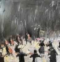 Gregory Prestegord |  Conductor |  Oil on board |  18x18 |  $2,400.