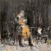 Gregory Prestegord |  Soloist |  Oil on panel|   10x10  |  $1,200.