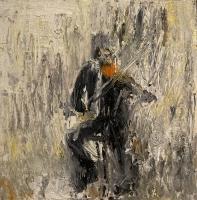Gregory Prestegord |  Violinist II |  Oil on panel |  8x8 |  $1,100.