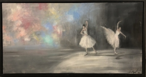 Gregory Prestegord  |  Ozy Dancers VII -  Closed series of 7 |  Oil on canvas |  24 x 48 |  $8,500. Inquire