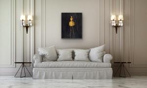Rene' Romero Schuler |  Nola, 2020 |   Oil on Canvas |   29.75 x 23.75 |   $4,000.