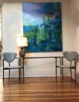 Sheila O'Keefe Braun |  Trout |   Acrylic, fingerwork, knives |  60 x 48 |  $4800.