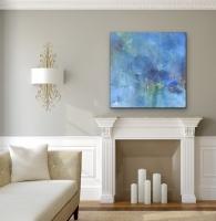 Sheila O'Keefe Braun |   Abundance |   Acrylic on canvas |   36 x 36 |  $3,200.