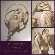 JAC JOHNSON ANGEL RESTS IN HER HALO HAND-CARVED/METAL INQUIRE FOR PRICING