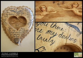 JAC JOHNSON SHAKER HEART HAND-CARVED INQUIRE FOR PRICING