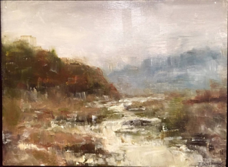 James Doherty |  Ireland countryside |  Oil, cold wax, and encaustic on wood panel  |  9 x 12  |  SOLD