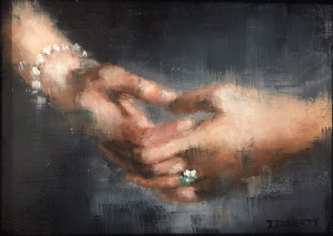 James Doherty |  Old Master: Hand |  Oil, Cold Wax, and Encaustic on Wood Panel |   5 x 7  |  SOLD