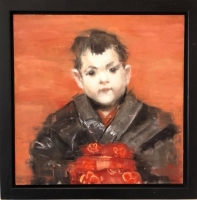 James Doherty |   Boy In Kimono |   Oil and cold wax on panel |   12 x 12  |  SOLD