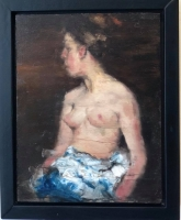 James Doherty |   Nude  III  |  Oil and cold wax on panel |   12 x 9  |  SOLD