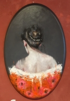 James Doherty |  Lucia in Orange Kimono |  Oil on Canvas  |  36 x 24 |  SOLD