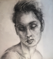 LJames Doherty |  Lucia Sketch |  Charcoal on Canvas |  50 x 44 |  Inquire