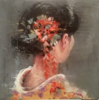 James Doherty |   Geisha in Yellow Kimono |  Oil on wood panel |  12 x 12  |  SOLD