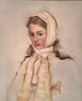 James Doherty |  Dorothea Sketch |   Oil on Wood Panel  |  20 x 20  |  SOLD