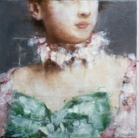 James Doherty |  Bodice |  Oil on canvas  |  13 x 13  |  SOLD