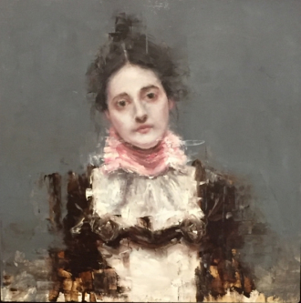 James Doherty |  The Artist's Wife - after William Merritt Chase  |  Oil on wood panel |  20 x 20  |  SOLD