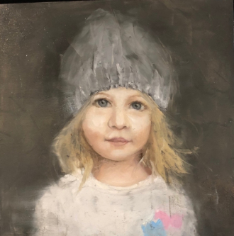 James Doherty |   Favorite Hat  |   Oil and cold wax on panel |   10 x 10  |   $1,500.