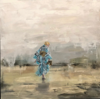 James Doherty |   Anjik Walking |   Oil and cold wax on panel |   18 x 18 |   SOLD