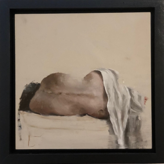 James Doherty |   Nude IV |   Oil and cold wax on panel |   10 x 10  |   $1,500.