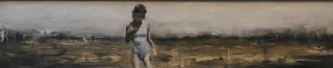James Doherty |   Solitude |   Oil and cold wax on panel |   13 x 58  |   SOLD