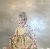 James Doherty |  Bella |  Oil and cold wax on canvas |   48 x 48 |   $6,000.