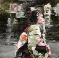 James Doherty |   Geisha in Motion |   Oil and cold wax on panel |   18 x 18 |   SOLD