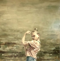 James Doherty |  Strength  |  Oil and cold wax on cradled board |  40 x 40 |  $4,800.