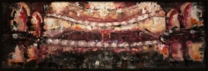 James Doherty |   Fulton Theatre |  Oil and cold wax on panel |    26 x 10 |  SOLD